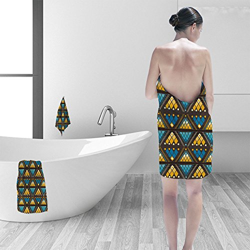 Hand towel set Tribal seamless pattern It can be used for cl