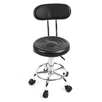 Amazon.com: Salon Stool, Adjustable Height Rolling Swivel Black ...