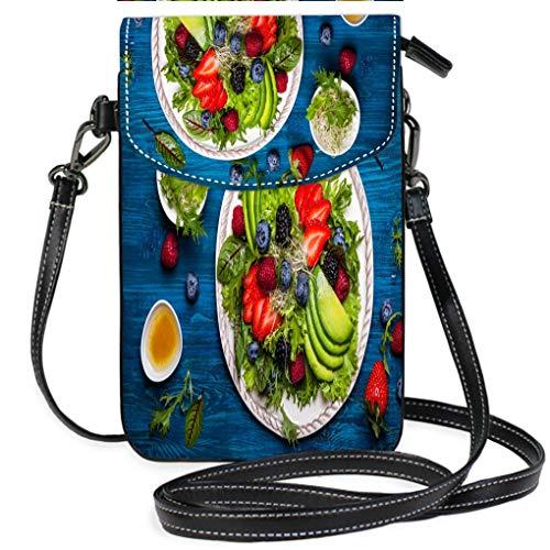 Custom Trendy Shoulder Crossbody Bag Salad and Appetizer Casual, Lightweight Multi Pockets Crossbody Bag