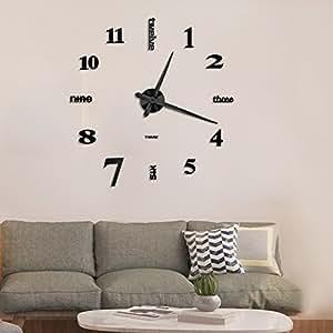 Amazon Com Vangold Large Diy Frameless Wall Clock Modern