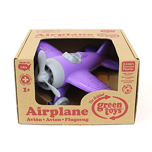 "Green Toys Airplane Vehicle Toy, Purple, 8.5"" X9"" X4.5"""