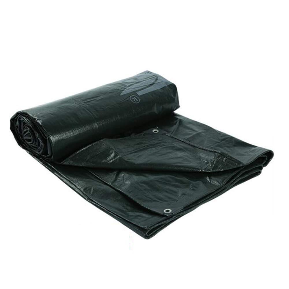 DALL ターポリン PEタープ 防水 UVプロテクト サンシャインタープ グラウンドシートカバー (色 : 黒, サイズ さいず : 8*10m) 8*10m 黒 B07KRVVPRR