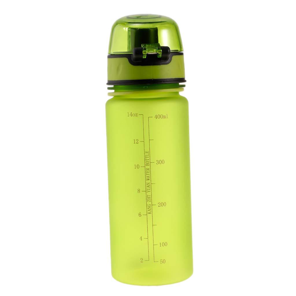 perfk Botellas de Agua de Plástico 400ml Deportes para Niños Estudiantes de Verano Envase - Verde: Amazon.es: Deportes y aire libre
