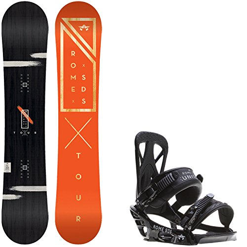 Rome Tour Blem 150 Mens Snowboard + Rome United Bindings - Fits US Mens Boots Sizes: 7,8,9,10 (Mens Rome Snowboard Package compare prices)