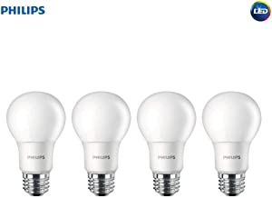 Philips LED 542976 Non-Dimmable A19 Light Bulb: 1500-Lumen, 5000-Kelvin, 15 (100 Watt Equivalent), E26 Base, Daylight, 4-Pack, White, 4 Piece