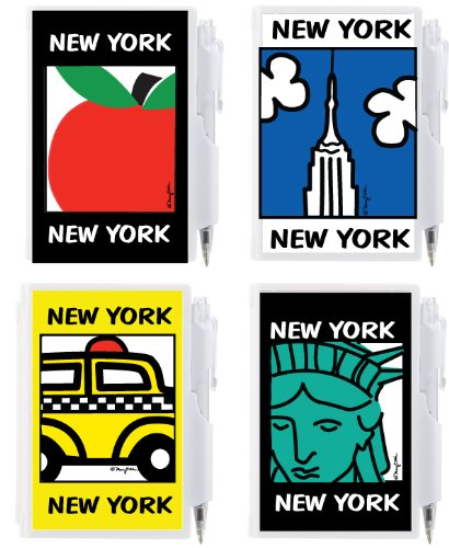 Statue Of Liberty Pens (New York City NYC Mini Notepads Memo Paper Pen Set of 4: Taxi, Empire State, Big Apple, and Statue of Liberty Compact Pen and Paper Pad Sets)