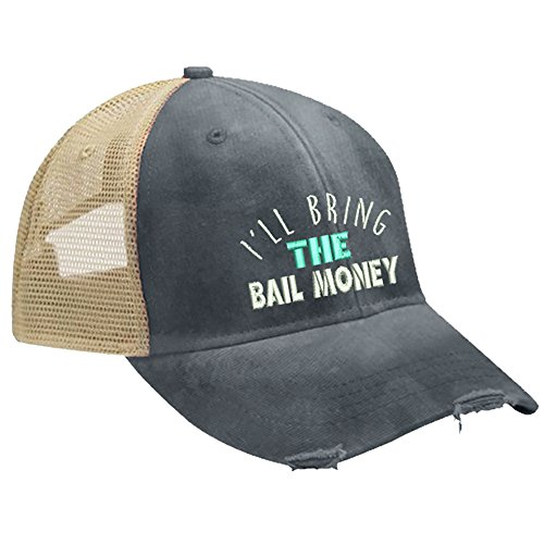 Piper Lou - I'll Bring The Bail Money Trucker Hat with Snapback Enclosure - Navy -