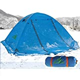 RioRand Double Layer 2 Person 4 Season Aluminum Rod Outdoor Camping Tent Topwind 2 Plus with Snow Skirt (Blue) Review