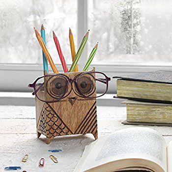 absolutely smart owl items.  quot Christmas Gifts Eyeglass Holder Wooden Spectacle Stand Quirky Owl Shaped Handmade Display Glasses Accessories Amazon com