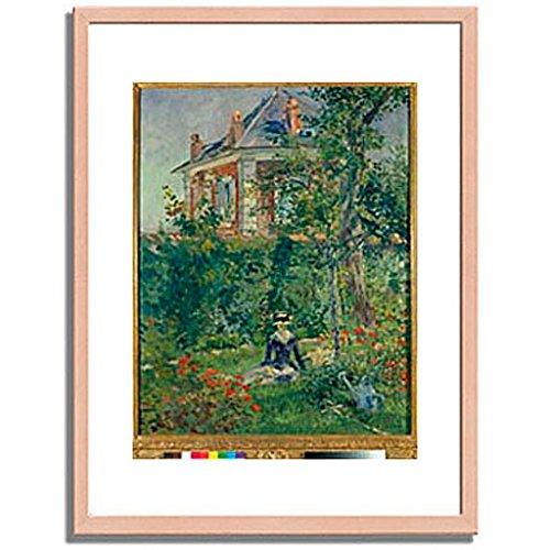 エドゥアールマネ Edouard Manet「A Garden Nook at Bellevue. 1880 」 インテリア アート 絵画 プリント 額装作品 フレーム:木製(白木) サイズ:XL (563mm X 745mm) B00NEE6JPE 4.XL (563mm X 745mm)|2.フレーム:木製(白木) 2.フレーム:木製(白木) 4.XL (563mm X 745mm)