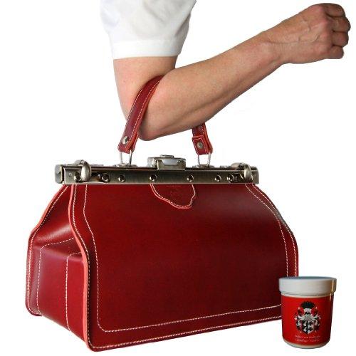 BARON of MALTZAHN Ladies Shopper Handbag RENOIR genuine leather red-silver Made in Germany Baratos Manchester Tienda Online El Envío Libre 2018 Nueva Comprar Barato 2018 Más Reciente Envío Libre Populares 8A61ZRr