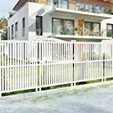 VINGLI 2- Pack Outdoor Picket Fence, Decorative PVC