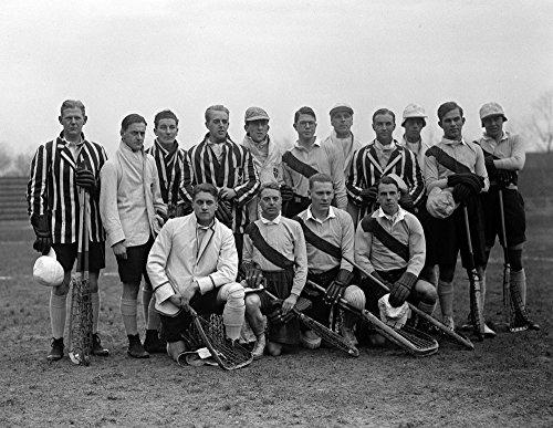 1926 Oxford - Cambridge Lacrosse Team Vintage Photograph