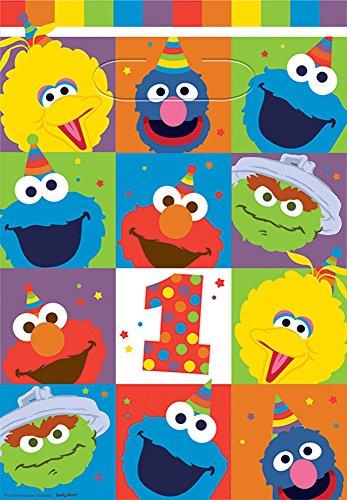(amscan 1st Birthday 'Elmo Turns One' Favor Bags (8ct))