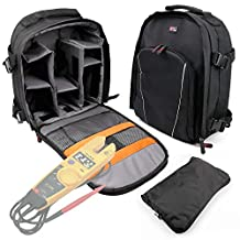 Black Rucksack With Padded Interior & Rain Cover for Fluke T5-1000 Electrical Tester and Fluke T5-600 Electrical Tester -by DURAGADGET
