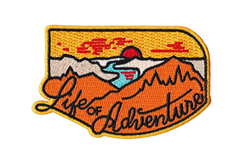 Asilda Store Life of Adventure Outdoor Embroidered Sew or Iron-on Patch