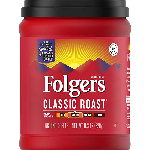 Folgers Classic Roast, Medium Roast, Ground Coffee, 11.3 Ounce, Packaging May Vary