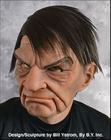 Zagone Prick Mask, Mean Old Man, Big Brow, Frown, (Supersoft Old Man Mask)