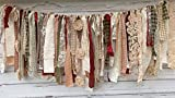 Shabby Chic Holiday Rag Tie Garland: ~ Photo Shoot ~ Wedding ~ Birthday ~ Nursery ~ Bridal Shower ~ Highchair Banner ~ Gender Reveal Parties ~ Decorations ~ Wall Decor! (9 FEET WIDE)