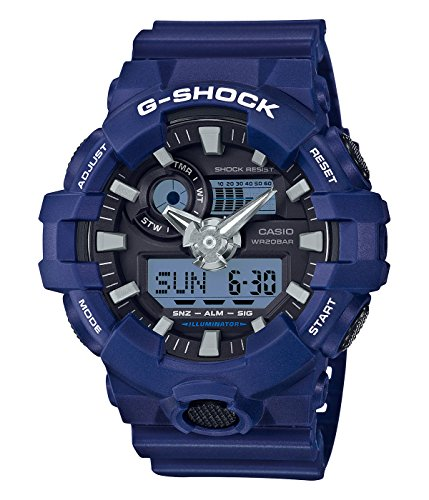 Casio-Mens-G-SHOCK-Quartz-Resin-Casual-Watch-ColorBlue-Model-GA-700-2ACR