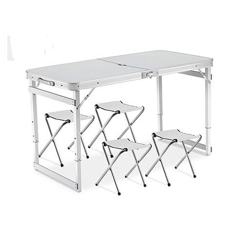 Amazon.com: XINTONGDA - Juego de mesa y silla plegables ...