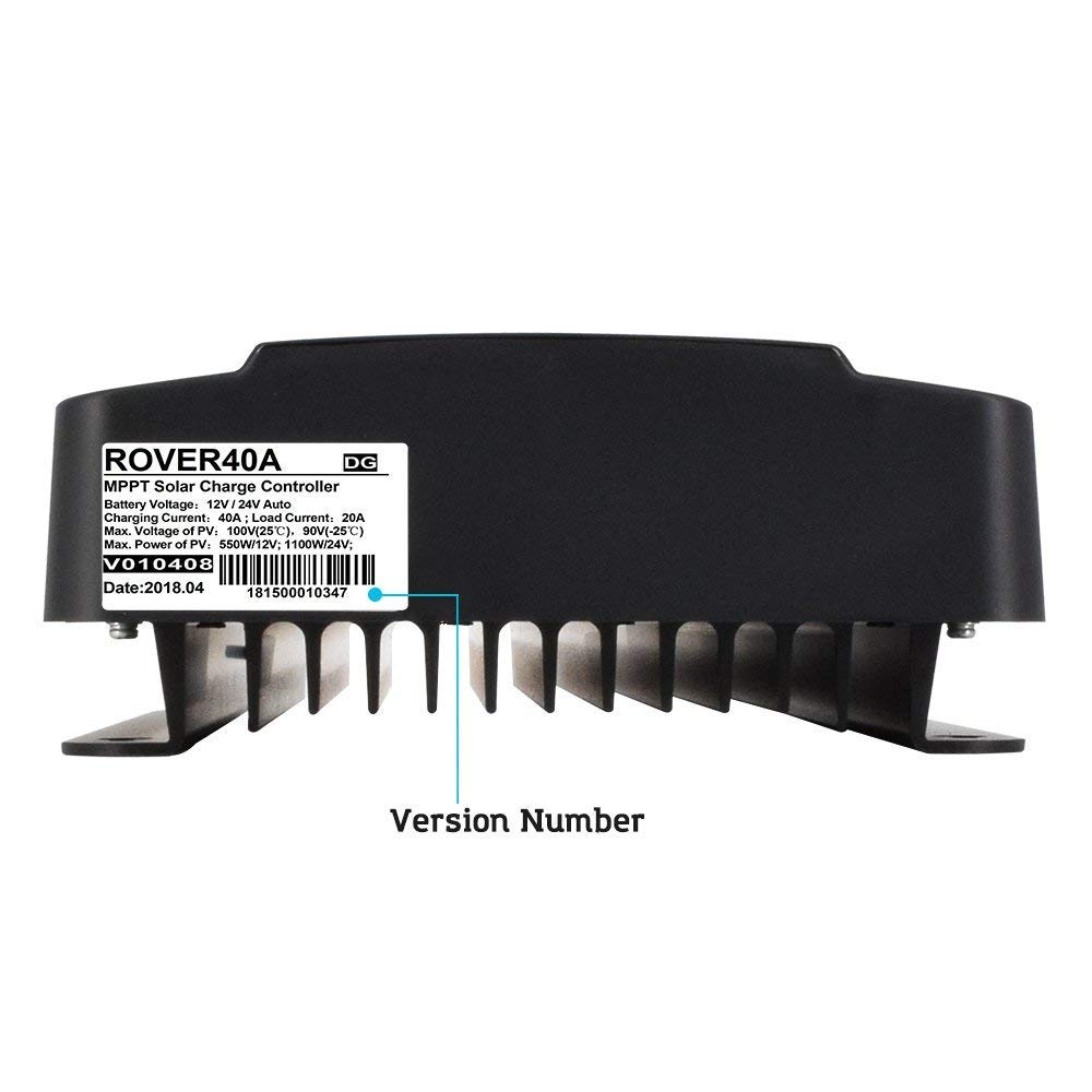 Renogy Rover 40 Amp 12v 24v Dc Input Mppt Solar Charge Controller Circuit The Appears To Be Little 40a Garden Outdoor