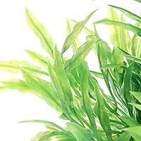 BouT 1 Pieza de Plantas acuáticas Acuario plástico Verde Vivo Adorno de pecera Decoración