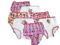 Handcraft Little Girls\' Disney Minnie Seven-Pack of Brief Underwear