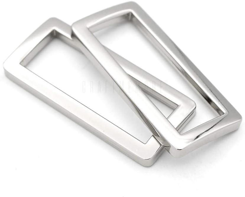 23 mm 6pcs Silver Belt Buckle 1/' inner Adjuster Buckle,Tri Bar Buckles Strap Buckle Adjuster Slider Leather Buckles for Bagspurse buckle