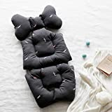 BORNY Stroller Liner, Car Seat Cushion, Harmless to The Skin, Multi use, Seat pad, Liner Pad (Borny Liner_Ambroid Candy_Charcoal)