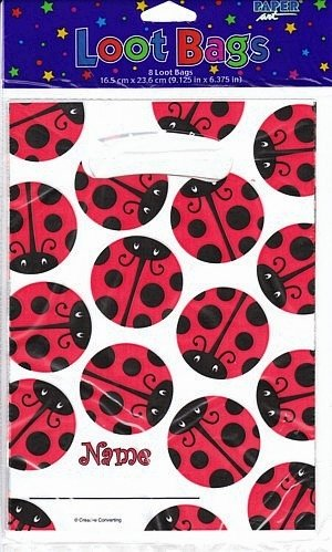 Ladybug Party Supplies Treat Bags