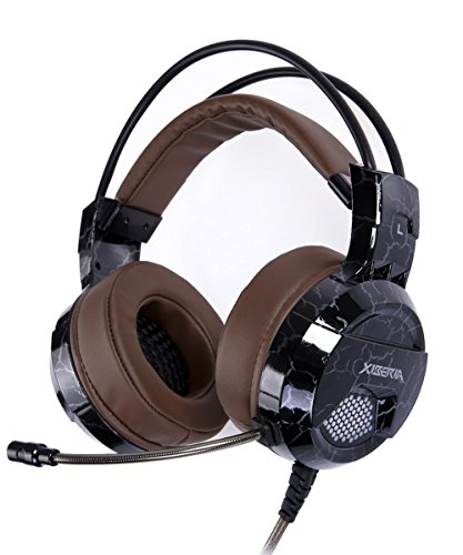 51W7ymRpW L - XIBERIA E1 USB Wired Surround Sound Over-ear Pro Gaming Headset with Microphone