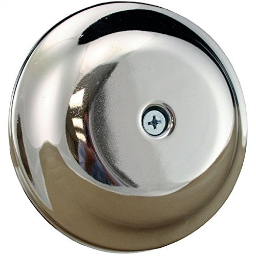 9-1/4 Chrome Finish High Impact Plastic Cleanout Cover Plates Bell Design- Pack of 5 by Jones Stephens