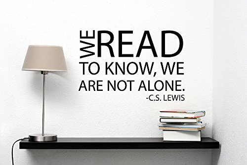 Cs Chart (C.S. Lewis Quote Decal Read Motivation Saying Vinyl Sticker Inspirational Lettering Art Decorations for Home Room Bedroom Library Decor hq11)