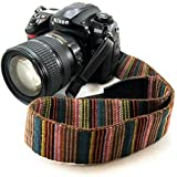 Electomania® Universal Color Stripes Soft Red Camera Neck Straps Shoulder Strap Belt Grip for DSLR Nikon Canon Panasonic Sony Pentax