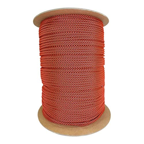 SGT KNOTS Paracord 550 Type III 7 Strand - 100% Nylon Core and Shell 550 lb Tensile Strength Utility Parachute Cord for Crafting, Tie-Downs, Camping, Handle Wraps (Neon Orange Diamonds - 100 ft)