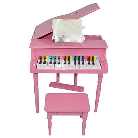 LIUFS-El teclado Juguete para niños Piano pequeño 30 teclas Flip Can Play Piano de