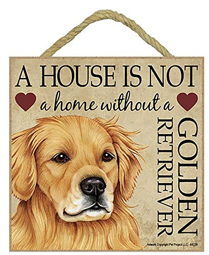 Amazon Com Hiusan Golden Retriever Gift Plaque House Is Not A
