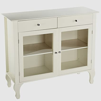 Sideboard Buffet Cabinet Glass Doors Foyer Entry Console Table With Storage  And Drawers Buffet Server Accent