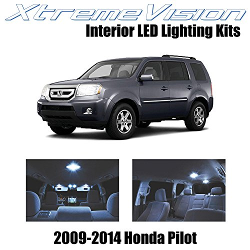 XtremeVision Interior LED for Honda Pilot 2009-2014 (16 Pieces) Cool White Interior LED Kit + Installation Tool