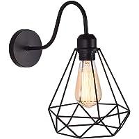 Apliques de Pared Vintage Jaula Lámpara Industrial Lámpara