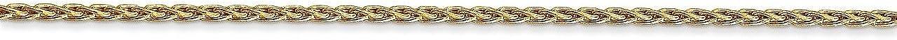 Lex /& Lu 14k Yellow Gold 1.5mm Parisian Wheat Chain Necklace or Bracelet