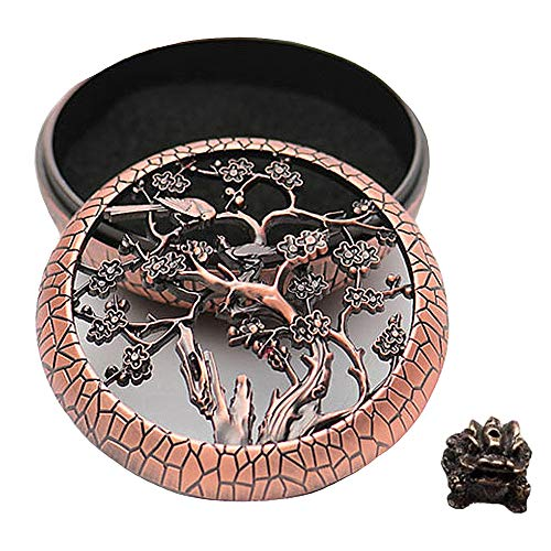 GUVVEAZ Alloy Incense Holder Burner (Stick/Cone/Coil Incense) Ash Catcher Tray Bowl with Lion Incense Stick Holder with Fireproof Cotton