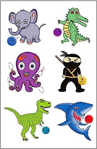 T-rex Costume Ninja (Premium Bowling Temporary Tattoos, Party Favors)