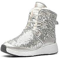 AU&MU Women Classic Short Sparkles Boots