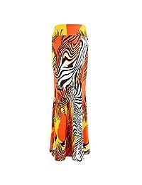 Adela Boutique dama Estampado Floral Largo Maxi falda de cintura alta completo faldas elástico vestido largo de colores para primavera y verano