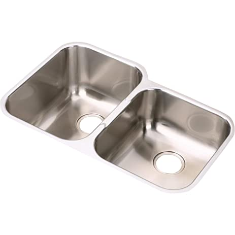 Elkay EGUH312010R Offset Double Bowl Undermount Stainless Steel ...