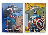 Marvel Captain America Set of 2 Coloring & Activity Books 96 Page Each 'American Hero' & 'Courageous Captain'
