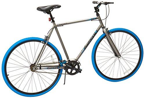 Takara Sugiyama Flat Bar Fixie Bike, 700c, Grayblue, Large58cm Frame