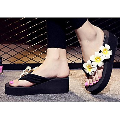 Primavera Verano Tela For Y De Creepers Oscuro Womens Casual Blanco Sandalias Negro FSCHOOLY Negro Confort Zapatos Azul Rosa xqzwXnntY
